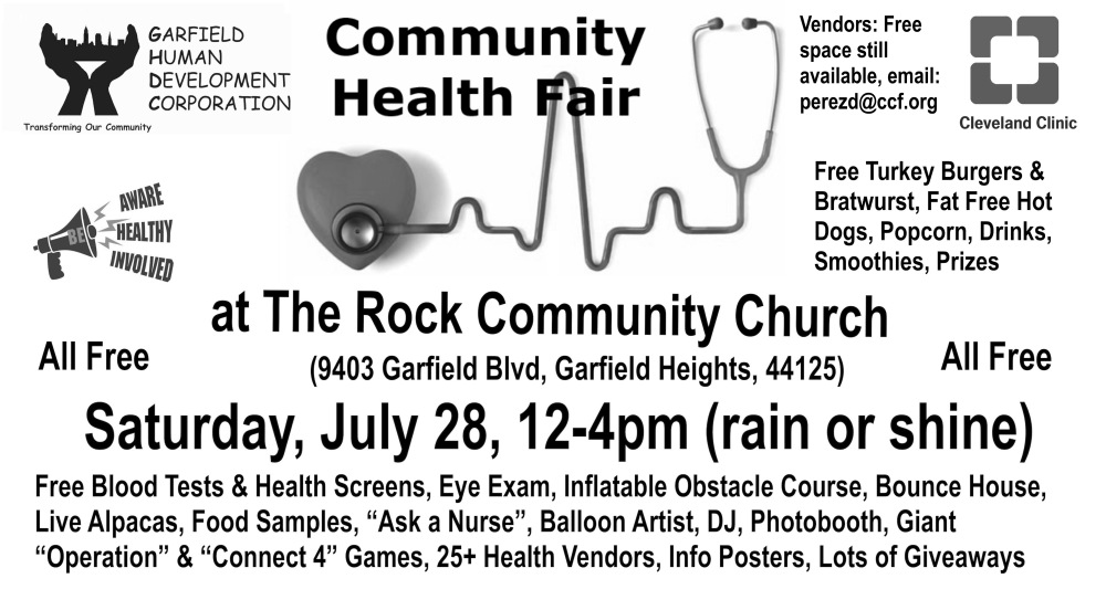 PAST EVENTS: Free Community Health Fair-July, 2018